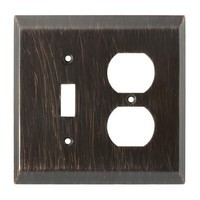 Liberty Hardware 126391, Single Switch/Duplex Wall Plate, Venetian Bronze, Stately Collection
