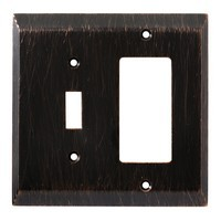 Liberty Hardware 126392, Single Switch/Decorator Wall Plate, Venetian Bronze, Stately Collection