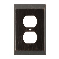 Liberty Hardware 126406, Single Duplex Wall Plate, Venetian Bronze, Stately Collection