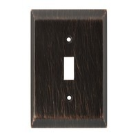 Liberty Hardware 126408, Single Switch Wall Plate, Venetian Bronze, Stately Collection