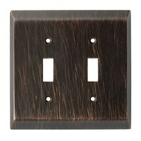 Liberty Hardware 126409, Double Switch Wall Plate, Venetian Bronze, Stately Collection