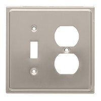 Liberty Hardware 126480, Single Switch/Duplex Wall Plate, Satin Nickel, Country Fair
