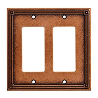 Liberty Hardware 135769, Double Decorator Wall Plate, Sponged Copper, Ruston Collection