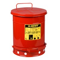 Justrite 9300, Waste Cans, Solvent Rag Disposal, 10 Gal Floor Style