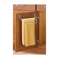 Knape and Vogt KV TB-W, Door-Mount Towel Bar, KV Series, White Wire, 3-Tiers, 12-7/16 W x 3-3/8 D x 5-1/2 H