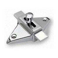 Jacknob 5020, Toilet Door Zamak Latch for In-Swing and Out-Swing Doors, Chrome