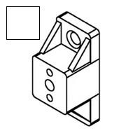 Bainbridge 3601WH-52, 3/4 Drawer Slide Spacer, White