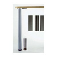 Meier 615-7S-C1, 2-3/8 Dia, Steel Table Leg, 27-3/4 Height with 1-1/8 Adjustment, Hamburg Series, Chrome