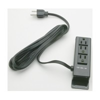 Specialty Lighting 5000-4311, 3-Outlet Power Strip with Coaxial Cable, 120V, Surface Mount, Black