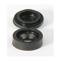Hughes H210BL-1000, Plastic Covercaps, Snap Cover, 9/16 Dia, Black, 1,000 Pieces