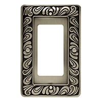 Liberty Hardware 64046, Single Decorator Wall Plate, Brushed Satin Pewter, Paisley