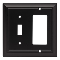 Liberty Hardware 64214, Single Switch/Decorator Wall Plate, Flat Black, Architectural Collection