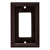 Liberty Hardware 64405, Single Decorator Wall Plate, Venetian Bronze, Beaded Collection