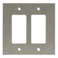Liberty Hardware 64927, Double Decorator Wall Plate, Satin Nickel, Concave