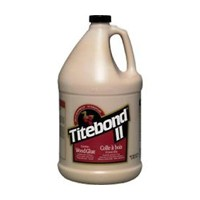 Franklin 3706, 1 Gallon Titebond II Dark Brown Glue, Light Brown Color, Dries Brown