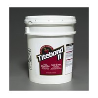 Franklin 3707, 5 Gallon Titebond II Dark Brown Glue, Light Brown Color, Dries Brown