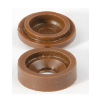 Hughes H210BN-1000, Plastic Covercaps, Snap Cover, 9/16 Dia, Brown, 1,000 Pieces