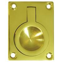 Deltana FRP25U5, Flush Ring Pull, 2-1/2 x 1-7/8, Antique Brass