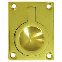 Deltana FRP25U3, Flush Ring Pull, 2-1/2 x 1-7/8, Bright Brass