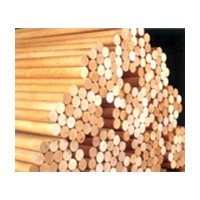 Excel Dowel DR-1236-R, Dowel Rod, Unfinished New England Hardwood, 1/2 x 36in
