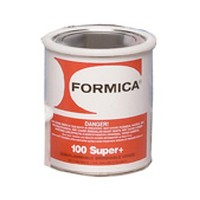 Choice Brands F-Super100Plus-01, 1 Gallon F100 Bulk Contact Adhesive, Non-flammable Brush and Roller Grade, Economy 14% Solids, Clear