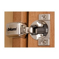 Blum 39C355B-1/4 COMPACT BLUMOTION 39C Hinge, 1-9/16 Overlay, Screw-on