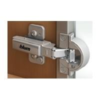 Blum 71B950A 95 Degree BLUMOTION Narrow Aluminum Door Hinge, Full Overlay, Screw-on