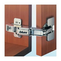 Blum 71T6650 170 Degree CLIP Top Hinge, Half Overlay, Screw-on