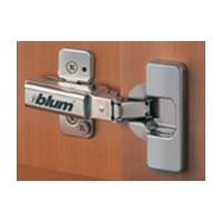 Blum 71T9650 95 Degree CLIP Top Hinge, Half Overlay, Screw-on