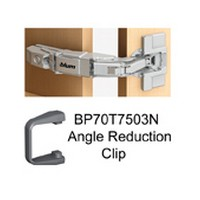 Blum 71T7600N 155 Degree CLIP Top Zero Protrusion Hinge, Half Overlay, Screw-on