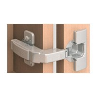 Blum 71T0650 94 Degree CLIP Top Mini Hinge, Half Overlay, Screw-on