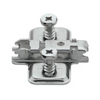 Blum 173L8130 3mm Wing Plate, Adjustable Height, Pre-mounted 5mm System Screw