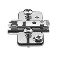 Blum 174H710ZE 0mm Wing Plate for Twin Application, Cam Adjustable Height, Pre-mounted Expando Dowels