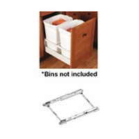 Blum 356M55B7SAB 12in Tandembox Waste & Recycle Set, White