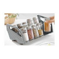 Blum ZFZ.38G0I 11-1/8 W Spice Tray Insert, Blum ORGA-LINE Series, Stainless Steel with Gray Nylor Parts