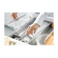 Blum ZSZ.01F1 16-3/16 L Plastic Wrap Dispenser, Blum ORGA-LINE Series, 3-1/2 W x 16-3/16 L x 2-3/4 D
