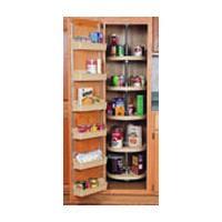 Rev-A-Shelf 6065-32-11-52, 32in Polymer Full Circle Pantry Cabinet Lazy Susan, Rev-A-Shelf Series, White, 5-Shelf Set with Hardware