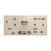 Handi Solutions HSBWK1008, Slatwall Starter Kit with (4) 8ft Panels and (21) Accessories, Handi Solutions Series, Garage Organization, White