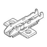 Grass F058139747228 2mm Tiomos Wing Plate, Steel, 4-Point Fixing, Wood Screw