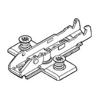Grass F058139763228 3mm Tiomos Wing Plate, Steel, 4-Point Fixing, with Pre-mounted Euro Screws