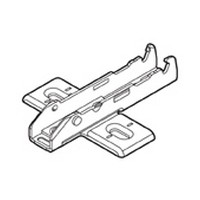 Grass F058139721228 0mm Tiomos Wing Plate, Steel, 3-Point Fixing, Wood Screw