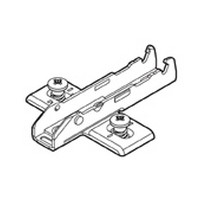 Grass F058139736228 0mm Tiomos Wing Plate, Steel, 3-Point Fixing, with Euro Screw