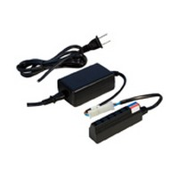 Rev-A-Shelf L-DC-ELT60-CON-25, 60 Watt, 12V LED Transformer with 6-Ports, Tresco, Black