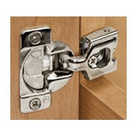 Grass 02791A-15 TEC Adjustable Soft-close Hinge, Wrap Mount, 1/4 Overlay, Dowel, 45mm Boring Pattern