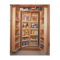 Omega National P0261DNL1, Wood Center Mount Panel for Pantry Shelf Set