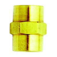 Milton 643BK, Fitting, Brass, Female Hex Coupling, 1/4 x 1/4