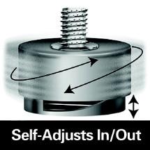 Jacob Holtz SL2-14, Self Adjusting Glides, Superlevel Series, 1-5/16 Base Dia, 1/4-20 Thread, 9/32 Stem