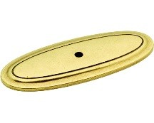 Belwith P277-LP Backplate for Knob, Length 3, Lancaster Brass, Manor House