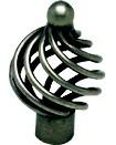 Berenson 9964-2AP-P Birdcage Knob, Dia 1-3/8, Pewter French Iron, Provence Series