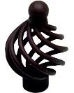 Berenson 9985-2RU-P Birdcage Knob, Dia 1-3/8, Rust, Provence Series